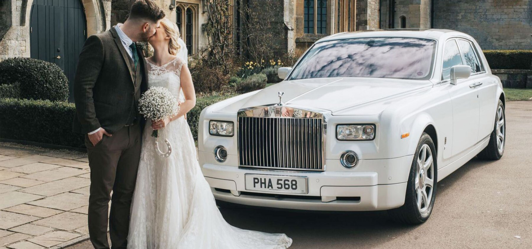 Rolls Royce Phantom in White